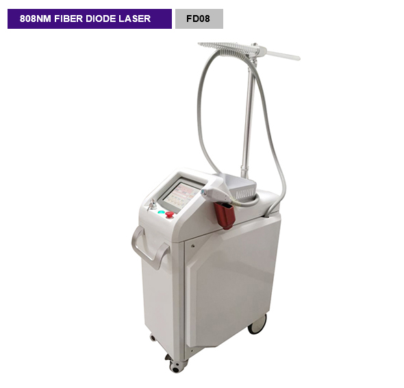 Fiber Coupled diode laser 808nm Permanent Hair Removal Machine FD08
