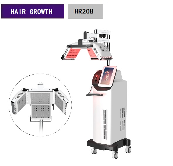 660nm Diode Hair Growth Machine Laser Therapy Machine HR208 1 Year Warranty HR208