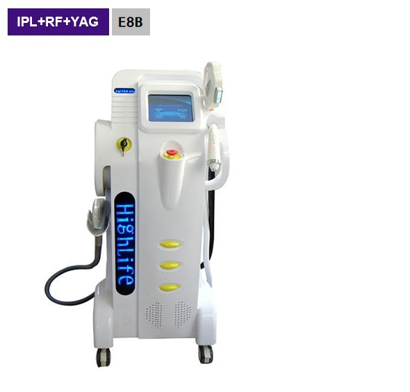4in1 IPL+Nd Yag+ SHR+ RF Hair Removal Tattoo Removal Faciail Lifitng Multi-function  E8B