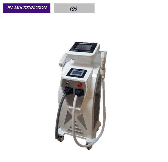 Vertical IPL Elight Hair Removal ND Yag Laser Tattoo And Pigment Removal Comercial Beauty Machine E6