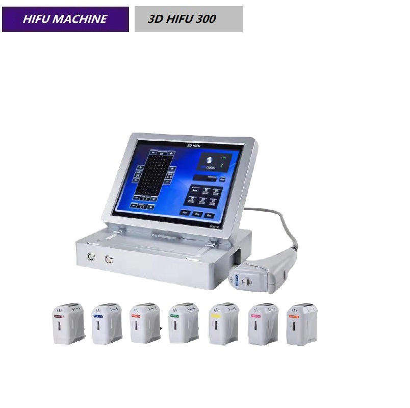 4Hz 8 Cartridges 3D HIFU Machine For Facial And Body Lifting Equipment 3D HIFU 300