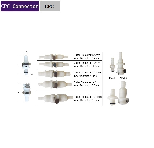 CPC Plastic Quick Coupler For Water Circulation CPC