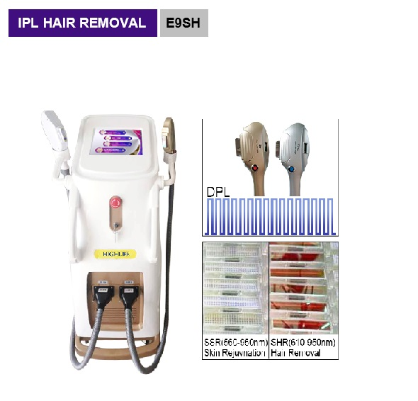 DPL SHR IPL hair removal Acne removal blood vessels removal whiskers removal beauty salon equipment E9SH
